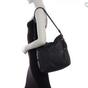 NWT black leather bag